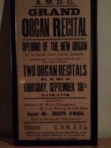 Poster of Jesuit Organ concert